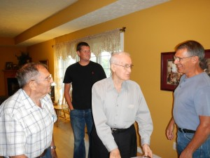 Robert, Gene, and Kyle with Dad