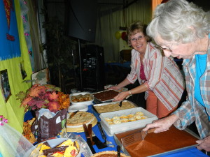 Marsha and the Ladies serve up a great meal for Hallelujah night!