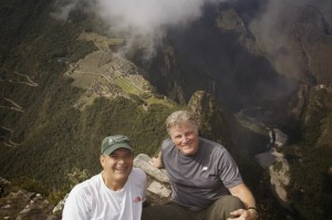 Jim & Dwayne from the heights of Wayna Picchu