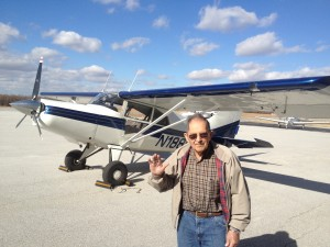 Dad after a recent plane ride at 90 years of age