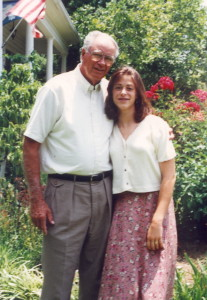 Dad with grand daughter, our daughter, Amanda